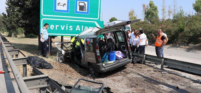 Korkunç kaza: 3 ölü, 6 yaralı