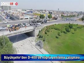 Büyükşehir'den D 400'de köprü yenileme çalışması