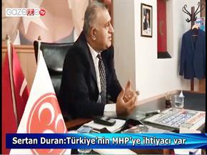 Sertan Duran:Türkiye'nin MHP'ye ihtiyacı var