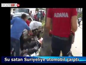 Su satan Suriyeliye araba çarptı