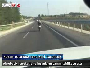 MOTOSİKLETLE TEHLİKELİ YOLCULUK