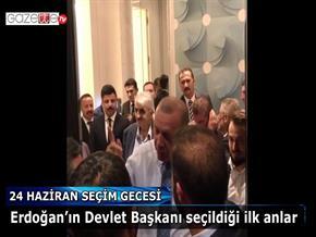 Erdoğan'ın Devlet Başkanı seçildiği ilk anlar