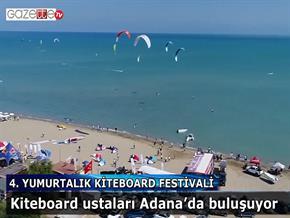 Kiteboard ustaları Adana'da buluşuyor