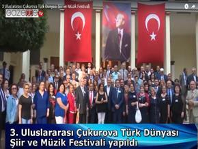3. Uluslararası Çukurova Türk Dünyası Şiir ve Müzik Festivali